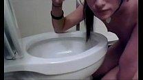 cute girl licking my toilet lustfully thumbnail