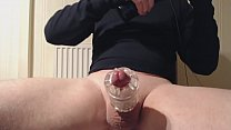 My solo 70 (Using 2 toys on my cock and huge sp...