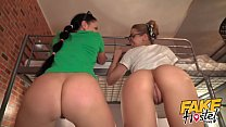 Fake Hostel Furious threesome with squirting or...