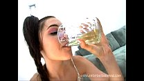 Sasha Grey drinking her own piss