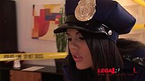 Crime scene doesn't stop Officer Madison Parker from hardcore ass fucking GP128