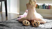 Sunny X ⁃ teen fucks teddy bear thumbnail