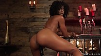 Stunning Ebony Domme Anal Fucks Male
