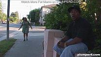 Fat ebony rides her thug pimp Image