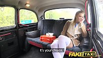 Fake Taxi Nurse in sexy lingerie has car sex