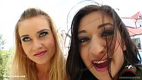 Selena - Angel getting sperm in mouth - sharing it in hot Sperm Swap threesome