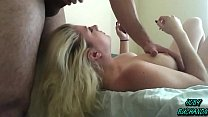 Dumb Blonde 18 Year Old Face Fucked w/ Cumshot preview image