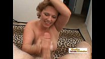 Mature lady works a big fat cock and gets a facial cumshot pornhub video