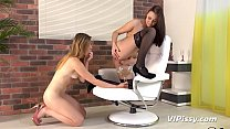 Lesbian Piss Drinking - Czech hotties Morgan and Barbe taste their pee