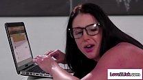 Ebony Pornstar Fucks Busty Lesbian Fan