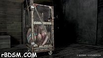 Caged up hotties are coercive to pleasured each other