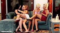 Menage a Quatre by Sapphic Erotica - lesbian love porn with Hailee - Lila pornhub video