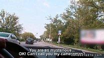 Busty Russian teen hitchhiker fucking outdoor Image