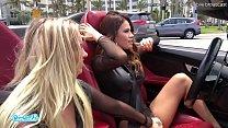 Camsoda - Latina Vanessa Veracruz Masturbating and Lesbian Sex With Bailey Brooke While Driving Lamborghini Image
