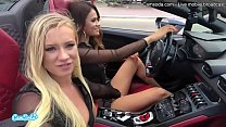 Camsoda - Latina Vanessa Veracruz Masturbating and Lesbian Sex With Bailey Brooke While Driving Lamborghini
