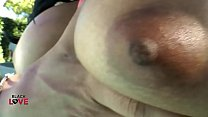 Busty Ebony Shemale With A Fat Cock