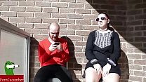 Horns,sunglasses and cock's suck on the balcony.SAN67 image