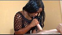 Teen Ebony Strokes A Cock
