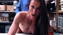 Screenshot Hot brunette MI LF thief fucked her way out of  her way out of t