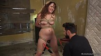 Big ass babe spanked and fucked bdsm