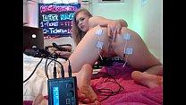 Screenshot Sexy Girl Shock s Her Ass With Electro Shocker Electro Shocker E