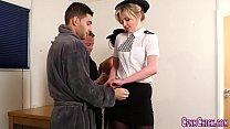 Cfnm police mistress jizz