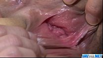 Kinky and nasty woman in fishnet gagging and cum swallowing - More   - 9Club.Top
