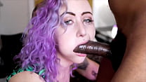 Tinder slut gagging on a huge BBC for birthday