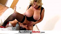 Huge tits mom Silvy Vee cunnilingus with a boy preview image