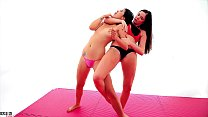 18869 Girl vs Girl Female Fighting Yoga Headscissor Humiliation K.O preview