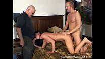 Wild Brunette MILF Swinger Takes On Two