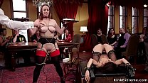 Petite teen anal fucked in group bdsm Image