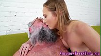 Teen cummed by old perv Preview