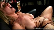 Beautiful busty old spunker fucks her fat juicy...