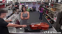 Good looking vixen sells cello and fucks for extra cash video