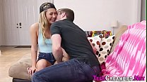 Fingered teen creampied's Thumb