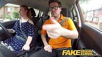 9314 Fake Driving School Voluptuous redhead fucks in car preview
