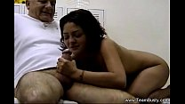 Daughter Massages Father Then Blowjob