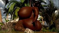3d Ebony Riding