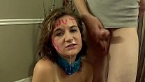 Brunette Tied Up and Facefucked By Dom - KIM STROKER - download porn videos