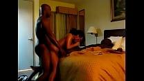 Asian wife fucks two big black dicks in hotel thumbnail