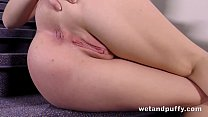 Pussy Closeup - Luna Ora gapes her pussy while ...
