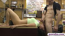 Brunette Woman Blowjobs And Banged Hard
