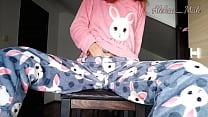Schoolgirl In Pajamas Teases And Masturbates Pussy