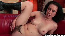 Mom's hairy pussy will get your dick so hard preview image