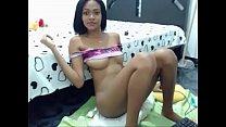 ebony latin teen with nice body masturbating on cam