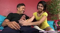 Pierced amateur  teen doggystyled pounded ed pounded