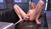 Blonde takes machine and squirts Thumbnail