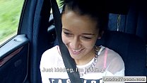Brunette teen got a huge dick in car POV thumbnail