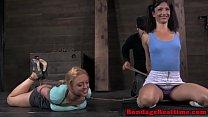 BDSM sub Darling hogtied